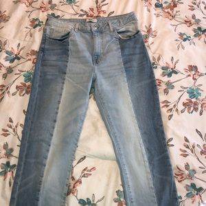 Forever 21 two tone jeans